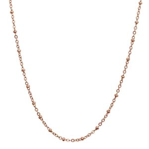 """Picture of Rose Gold Faceted Bead Chain - 32"""""""